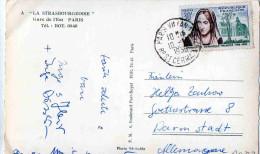 "CARTOLINA POSTALE-PARIS-""LA STRASBURGEOISE""-GARE DELL'EST X DARMASTADT-GERMANIA - Storia Postale"