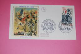 FDC, Premier Jour, YT 1730, Bonaparte Au Pont D'Arcole, 0,60 F, 1972, Paris, Soie, EXCELLENT ÉTAT - FDC