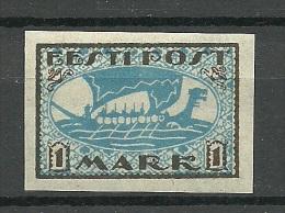 ESTLAND Estonia Estonie 1919 Wikingerschiff  Wiking Ship Michel 12 Y MNH - Estonie