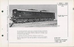 1ABBA1 3601 à 3610 RARE FICHE DOCUMENTAIRE DOUBLE LOCO REVUE N° 232/233 DEC. 1968 - Books And Magazines