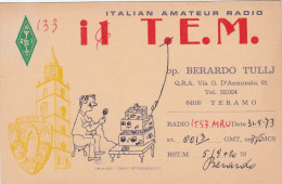 TERAMO /  Radioamatore  Stazione Radio _  Italian Amateur Radio Station  _ Viaggiata 1973 - Teramo