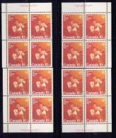 CANADA 1975. #B8, COMBATS SPORTS,  MNH    LL SET Of 4 BLOCKS - Unused Stamps