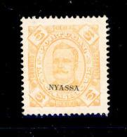 ! ! Nyassa - 1898 D. Carlos 5 R (1905 REPRINT) - Af. 02 - MH - Nyassa