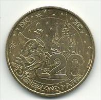 ** MONNAIE DE PARIS 20 ANS DISNEYLAND PARIS 1992 2012 BON ETAT - Monnaie De Paris