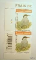 Recommande-Aangetekend: Block Of 2 Stamps On Birds: Sterne Arctique-Noordse Stern. Block With Plate Nr. (2222) Bar Code - Bélgica