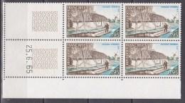 N° 1439 Série Touristique: Paysage Vendéen : Bloc Coins Datés Du 25.6.65 Neuf Impéccable - Dated Corners