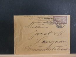 49/703  LETTRE POUR LA SUISSE  1906 - 1900-27 Merson