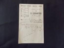 Courtomer H Lechartier Orne Quincaillerie Serrurerie Ferblanterie Zinguerie Pompes Parapluies Ombrelles 1919 - Petits Métiers