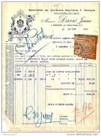 65 20 AUREILHAN par SEMEAC TARBES 1936 Jambon Bayonne DARRE ( Darr� ) jeune - Haricot Noix dest BLACHER