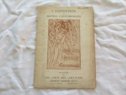 EXPOSITION DES  MAITRES CONTEMPORAINS  DU 1ER AU 27 NOVEMBRE 1917 - Programas