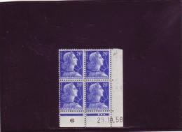 N° 1011B - 20F MULLER - BN De BN+BO - 1° Partie Du Tirage Du 24.10.58 Au 1.12.58 - 29.10.1958 - - 1950-1959