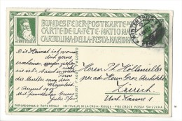 N32 -  Carte N°16 Fête Nationale Bundesfeier 1917 1er Jour Winterthur Pour Zürich Henri Dunant - Stamped Stationery