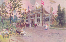 """1906 Italy Dell'Esposizione Di Milano Art Pc """"Aeronautica""""  S.Pata Signed, Used UK 1907. - Exhibitions"""