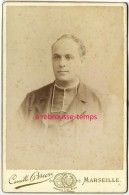Grand CDV-(CAB) V 1880-jeune Prêtre-photo Camille Brion Rue St Ferreol à Marseille - Photographs