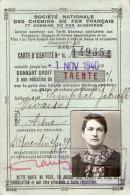 VP1475 - Carte d' Identit� des Chemins de Fer Fran�ais - Mme G. SIMPHAL � VIVAISE