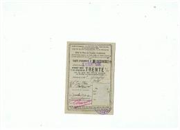 S N C F  CARTE D'IDENTITE DONNANT DROIT �  UNE REDUCTION de 30%   (NORD)