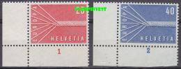 Europa Cept 1957 Switzerland 2v (corners)  ** Mnh (21135) - 1957