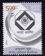India MNH 2013, Intelligence Bureau, Security Organization, Help To Police, Job, Crime Protection, Data, - India
