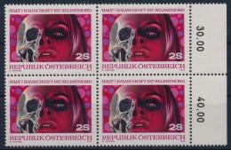**Österreich Austria 1973 ANK 1441 Mi 1411 Block Of 4 Drogenmißbrauch No Drugs ! Jones MNH - 1945-.... 2. Republik