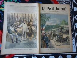 Du 6 Août 1894 - Le Petit Journal Supplément Illustré - Les Voitures Sans Chevaux - Un Barbier Dans La Cage à Lions - - 1850 - 1899