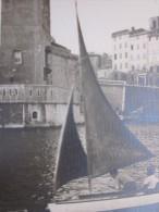 CPA / RPPC MARSEILLE en �t�  petites embarcations � voile pecheur  vieux port Photo Photographie ORIGINALE ordre priv�