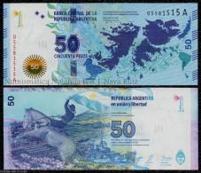 ARGENTINA 50 PESOS 2015 Comm. Falkland Islands PICK NEW SC UNC - Argentina