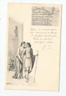 Cp , Illustrateur , Signée GREUX , Les DEUX PIGEONS , Couple , Voyagée - Altre Illustrazioni