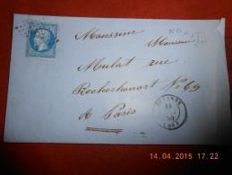 WW_19_ Lettre De Sezannes_ Variété A Voir Sur N°14; A Voir!! - 1853-1860 Napoléon III.