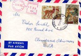 YOUGOSLAVIE. N°1263-4 De 1970 Sur Enveloppe Ayant Circulé. Mosaïque. - Archaeology