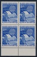**Österreich Austria 1974 ANK 1463 Mi 1437 Block Of 4 Radio Austria Telegraphy MNH - 1945-.... 2nd Republic