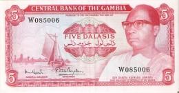 BILLETE DE GAMBIA DE 5 DALASIS DEL AÑO 1972 CALIDAD EBC (XF)  (BANKNOTE) - Gambia