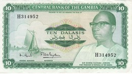 BILLETE DE GAMBIA DE 5 DALASIS DEL AÑO 1972 CALIDAD MBC (VF)  (BANKNOTE) - Gambia
