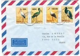 NAMIBIA - NAMIBIE - 1996 - Birds - Uccelli - Air Mail - Viaggiata Da Windhoek Per Yutz, France - Namibia (1990- ...)
