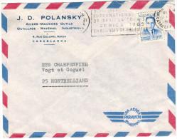MAROCCO - MAROC - 1969 - Airmail - Par Avion - 0,40 Flamme Challenges Of The Future - Viaggiata Da Casablanca Per Mon... - Marruecos (1956-...)