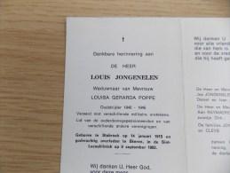 Doodsprentje Louis Jongenelen Stabroek 14/1/1915 Ekeren 9/9/1982 ( Louisa Gerarda Poppe ) - Religione & Esoterismo
