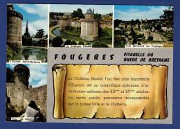 35 FOUGERES Eglise Saint-Sulpice, Château Féodal, Vue Générale Du Château, Tour De Coigny 4 Vues - Fougeres