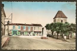 CERCOUX La Place De L'Eglise Monument Aux Morts Café De La Poste (Van Eyk Rouleau) Charente Maritime (17) - France