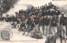 (83) SIGNES - Une Halte Colonial Photo Du Groupe Armes 22éme Colonial - Soldats Militaires Militaria - 2 SCANS - Autres Communes