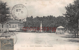(83) SAINT ST MAXIMIN LA SAINTE STE BAUME - Place Malherbe - 2 SCANS - Saint-Maximin-la-Sainte-Baume