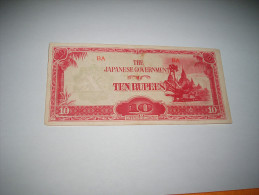 BILLET CIRCULE DU JAPON DATE ?. / THE JAPANESE GOVERNMENT TEN RUPEES. - Giappone