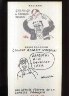 -  KRASUCKI  PAR WOLINSKI . PLANCHE LIBRE D´UN PORTFOLIO CANAL + . 1989 . - Wolinski
