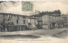 Gard : Montfrin, La Place De La République Et Le Chateau - Altri Comuni