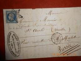 WW_21_paris,rue Rochechouard N°14 Variété,facture à Voir!! - 1849-1876: Periodo Classico