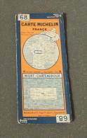 Ancienne Carte Michelin France - Numéro 68 - Niort / Châteauroux - Cartes Routières