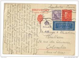 Marque Postale Luftpost Suède Passed 1945 - Vieux Papiers