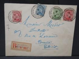 BELGIQUE- ENVELOPPE EN RECOMMANDEE DE STE ADRESSE ( Gouvernement En Exil) POUR BEAUNE  1916 AFFR TRICOLORE  LOT P3688 - 1915-1920 Alberto I