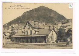 CPA (15) MURAT - La Gare & Le Rocher De Bonnevie .(001) - Murat
