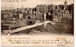 - ECOSSE - CPA Ayant Voyagé EDINBURGH 1904 - Old Town From Scott Monument - - Midlothian/ Edinburgh