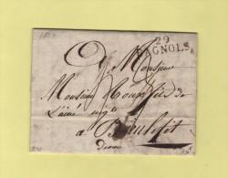 Bagnols - 29 - Gard - Courrier De 1823 - Marcophilie (Lettres)