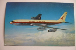 AIRLINES ISSUE / CARTE COMPAGNIE       WORLD AIRWAYS  B 707 - 1946-....: Moderne